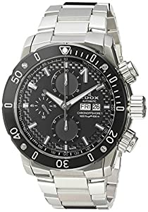 Edox Men's 'Chronoffshore-1' Swiss Automatic Stainless Steel Diving Watch, Color:Silver-Toned (Model: 01122 3M NIN)
