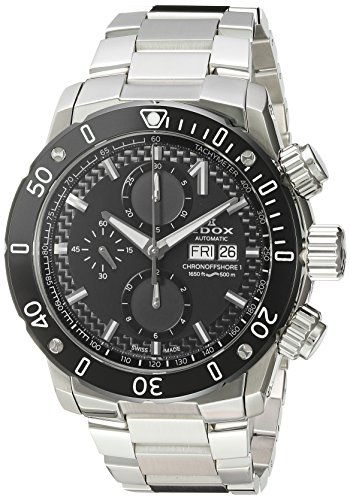 Edox-Mens-Chronoffshore-1-Swiss-Automatic-Stainless-Steel-Diving-Watch-ColorSilver-Toned-Model-01122-3M-NIN