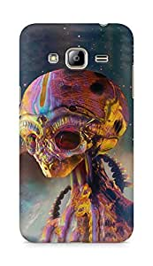 Amez designer printed 3d premium high quality back case cover for Samsung Galaxy J3 (2016 EDITION) (Alien art colorful)
