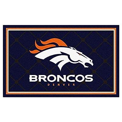 FANMATS NFL Denver Broncos Nylon Face 4X6 Plush Rug