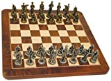 CIVIL WAR Walnut root board with Pewter chessmen
