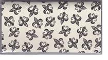 Tiny Le Fleur de Lis Checkbook Cover
