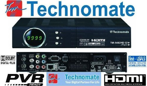 TECHNOMATE TM5402 HD SATELLITE RECEIVER, Black