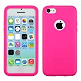 MYBAT Visible Book-Style Candy Skin Cover for iPhone 5C - Retail Packaging - Hot Pink
