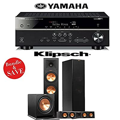Yamaha RX-V581BL 7.2-Channel Network A/V Receiver + Klipsch RP-280F +Klipsch RP-440C + Klipsch R-112SW - 3.1 Reference Premiere Home Theater Package from Klipsch