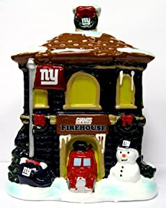 NFL New York Giants Holiday Village Firehouse by Forever Collectibles