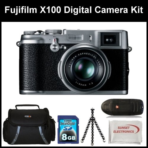 Fujifilm X100 Digital Camera Kit Includes: Fujifilm X-100 Camera