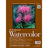 Strathmore 472900 Cold Press 140-Pound 15-Sheet Watercolor Block Paper Pad, 9 by 12-Inch