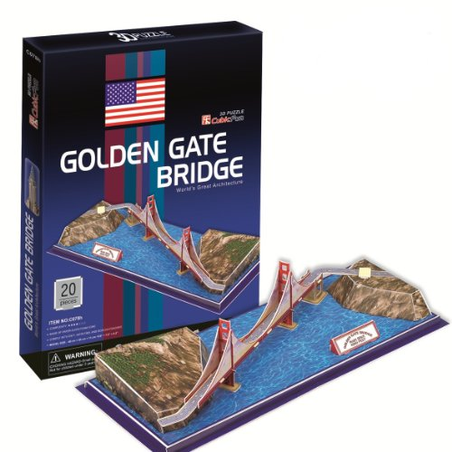 Ezhishop Golden Gate Bridge Diy 3D Puzzle Model Toy-20 Pieces