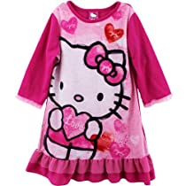 "Hello Kitty ""Love"" Pink Kids Nightgown Pajamas (L(10))"
