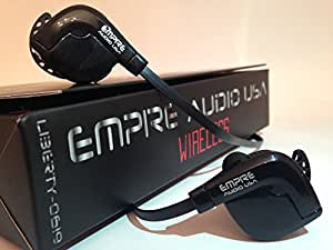 Empire Covers EMPIRE AUDIO USA / Bluetooth Earbuds Wireless Stereo Sweatproof In Ear Sports Headphones with Mic / Black Earphones