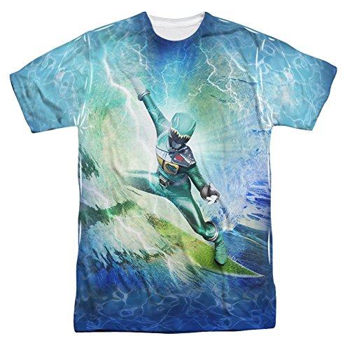 Power Rangers Surfs Up Green Ranger All Over Front T-Shirt
