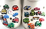 21 pcs Set of Shoe Charms Cars