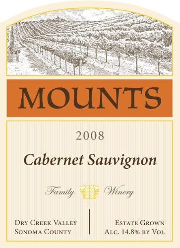 2008 Mounts Winery Estate Cabernet Sauvignon Dry Creek Valley 750 Ml