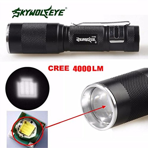 Flashlight,Baomabao 4000LM Zoomable CREE XM-L Q5 LED Flashlight 3 Mode Torch Super Bright Light Lamp