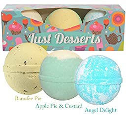 BIRTHDAY GIFT IDEA: Fun Bath Bombs Lush Gift Set For Kids. Includes 3 Extra Large (Baseball size) Bath Bombs. Makes A Perfect Gift For Girls Boys & Kids. Changes Tub Colour - Bath Fizzies