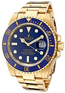 Rolex Men's Submariner Automatic Blue Dial Oyster 18k Solid Gold from Rolex