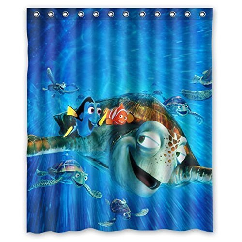 Finding Nemo Custom Polyester Waterproof Bath Shower Curtain Rings Included 6