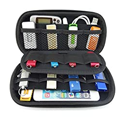 niceEshop(TM) Big Capacity USB Flash Drive Bag, Digital Gadget Case, Blue