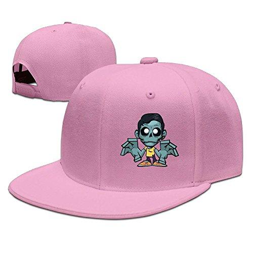 zomboy-unisex-100-cotton-pink-adjustable-snapback-trucker-hats-one-size
