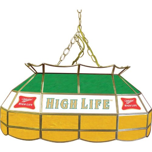 Miller High Life 28 inch Stained Glass Pool Table Light Miller High Life 28 inch Stained Glass Pool