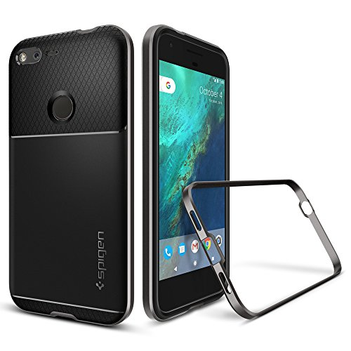 Spigen-Neo-Hybrid-Goolge-Pixel-XL-Case-with-Flexible-Inner-Protection-and-Reinforced-Hard-Bumper-Frame-for-Google-Pixel-XL-2016-Gunmetal