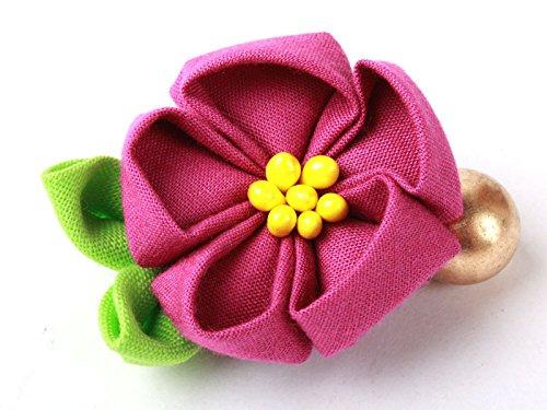 和風 花柄 ヘアピン 和装 髪飾り#紫色