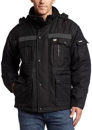 Caterpillar Men's Heavy Insulated Parka Coat, Black, X-Large