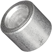 "Round Spacer, 2011 Aluminum, Plain Finish, #8 Screw Size, 1/4"" Length (Pack of 25)"