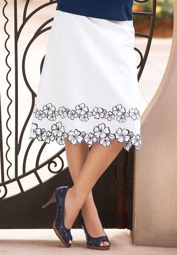 Appliqud Skirt - Buy Appliqud Skirt - Purchase Appliqud Skirt (Chadwicks, Chadwicks Skirts, Chadwicks Womens Skirts, Apparel, Departments, Women, Skirts, Womens Skirts, Wrap, Wrap Skirts, Womens Wrap Skirts)