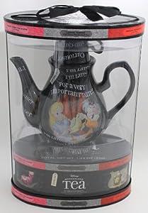 DISNEY PARKS EXCLUSIVE : Disney Wonderland Teapot + 20 Teabags/5 Flavors