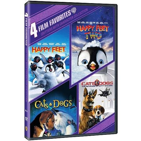 4 Film Favorites, Critters with Character Collection: Happy Feet, Happy Feet Two, Cats & Dogs, and Cats & Dogs: Revenge of Kitty Galore (Happy Feet Dvd compare prices)