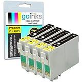 4x Compatible Cartouche d'encre noire imprimante pour remplacer T1281 pour une utilisation dans Epson Stylus Office BX305F, BX305FW, S22, SX125, SX130, SX235W, SX420W, SX425W, SX435W, SX445W