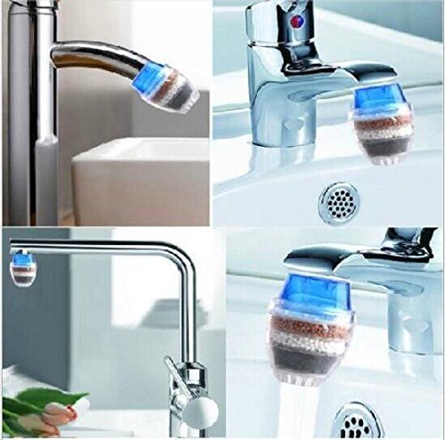 Drhob 1Pc Household Home Coconut Carbon Cartridge Faucet Tap Water Clean Purifier Filter(Multicolor random) (Water Purifier Carbon Filter compare prices)