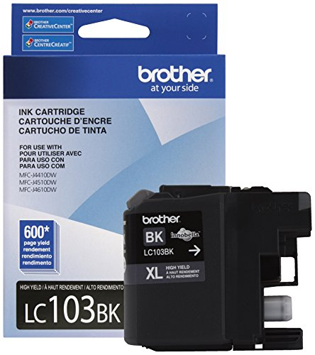Brother Printer LC103BK High Yield Ink Cartridge, Black (Brother Lc103bk Xl compare prices)