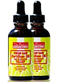 Virgin Hair Fertilizer Oil (2 Pack) - Roots and Scalp Treatment for Thinning or Breaking Hair   Natural Hair Products   African American Hair Products   Enriched with Jamaican Black Castor Oil
