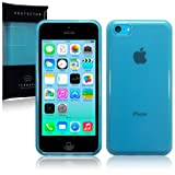 New Apple iPhone 5C 8gb (2014) TPU Gel Skin Case / Cover - Blue