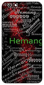 Hemang (One With Shining Body) Name & Sign Printed All over customize & Personalized!! Protective back cover for your Smart Phone : Moto E-2 ( 2nd Gen )