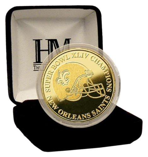 Highland Mint Super Bowl Xliv Champions 24Kt Gold Coin