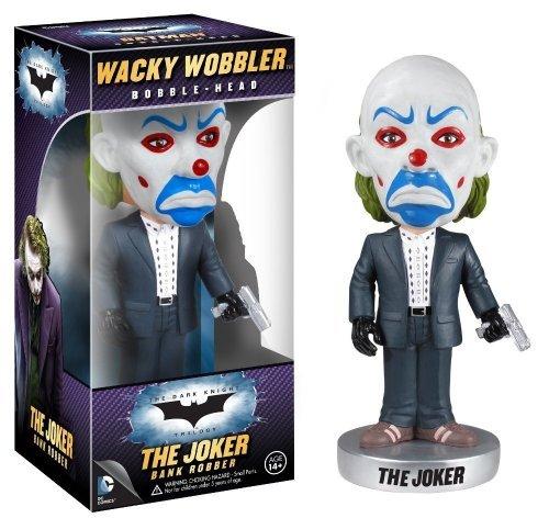 The Joker Bank Robber Bobble Head Figure: The Dark Knight Trilogy Wacky Wobblers Series