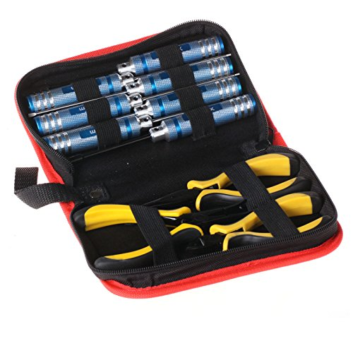 10 In1 Hex Screw Driver Pliers Tools Set For Rc Heli Plane Car Align