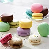 Round Sphere Candy Fruit Macaron Designed Lip Moisturizing Balm Nourishing (Color: Green Apple)