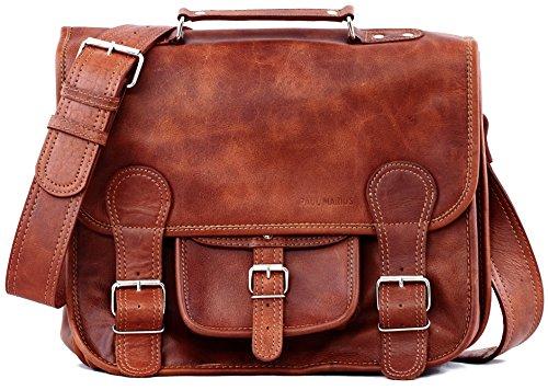 La Cartella (M), borsa pelle vintage, la borsa a mano, borsa a tracolla, (A4), PAUL MARIUS, Vintage & Retro
