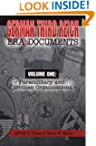 German Third Reich Era Documents Volume One: Paramilitary and Civilian Organizations
