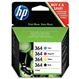 HP 364 Combo Pack - 4-pack - black, yellow, cyan, magenta - original - ink cartridge