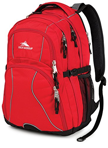 High Sierra Swerve Backpack, Red