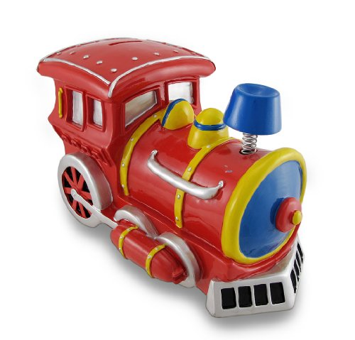 Bobble Smoke Stack Train Engine Coin Bank - 1