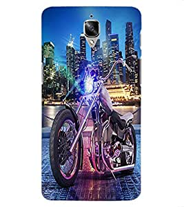 ColourCraft Bike Design Back Case Cover for OnePlus Three