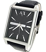 ARMANI EXCHANGE LEATHER STRAP 50M MENS WATCH - AX2113