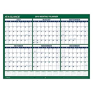 Monthly Wall Calendar, Academic Year, 12 Months, July 2015-June 2016 ...